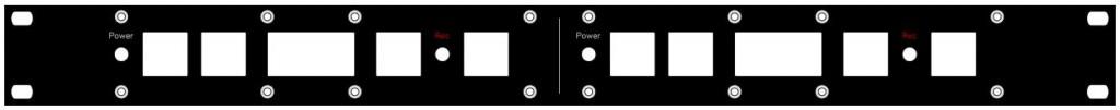 1RU panel for (2) control panels